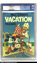Golden Age (1938-1955):Cartoon Character, Walt Disney's Vacation Parade #3 File copy (Dell, 1952) CGC NM 9.4 Cream to off-white pages. Dell Giant; Walt Disney's Vacat...