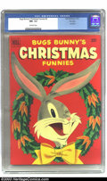 "Golden Age (1938-1955):Cartoon Character, Bugs Bunny's Christmas Funnies #2 File copy (Dell, 1951) CGC NM-9.2 Off-white pages. True ""funnybooks"" are much less likely..."
