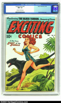 Exciting Comics #61 (Nedor Publications, 1948) CGC NM+ 9.6 Off-white to white pages. Featuring a classic Judy of the Jun...
