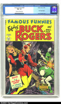 Golden Age (1938-1955):Science Fiction, Famous Funnies #209 (Eastern Color, 1953) CGC NM- 9.2 Cream tooff-white pages. Frank Frazetta began his short run of amazin...