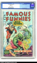Golden Age (1938-1955):Science Fiction, Famous Funnies #210 (Eastern Color, 1954) CGC NM 9.4 Cream tooff-white pages. Here's a superb example of one of the most ad...