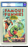 Golden Age (1938-1955):Science Fiction, Famous Funnies #210 (Eastern Color, 1954) CGC FN/VF 7.0 Cream tooff-white pages. The incomparable Frank Frazetta has an awf...