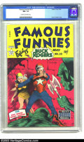 "Golden Age (1938-1955):Science Fiction, Famous Funnies #211 (Eastern Color, 1954) CGC NM- 9.2 Cream tooff-white pages. ""Famous"" really applies to this issue. This ..."