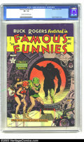 Golden Age (1938-1955):Science Fiction, Famous Funnies #213 (Eastern Color, 1954) CGC VF- 7.5 Cream tooff-white pages. Here's one that has it all. See the space mo...