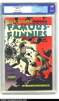 Famous Funnies #216 (Eastern Color, 1955) CGC NM 9.4 Off-white to white pages. Here's a rare chance to own a high-grade...