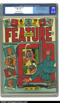 Golden Age (1938-1955):Miscellaneous, Feature Comics #36 Mile High pedigree (Quality, 1940) CGC VG+ 4.5 Off-white to white pages. This rather atypical Mile High c...