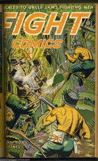 Fight Comics Bound Volume of #25 - 36 (Fiction House, 1943-45). An action-packed volume containing a dozen issues of one...