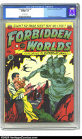 "Golden Age (1938-1955):Science Fiction, Forbidden Worlds #1 (ACG, 1951) CGC VF/NM 9.0 Off-white pages. Thefirst 10 page story, titled ""Demon of Destruction,"" has F..."