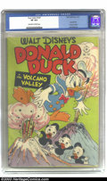 Golden Age (1938-1955):Cartoon Character, Four Color #147 Donald Duck (Dell, 1947) CGC VF 8.0 Off-white to white pages. Carl Barks brings his mastery to this issue wi...