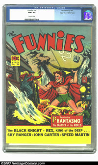 Funnies #54 Mile High pedigree (Dell, 1941) CGC NM+ 9.6 Off-white pages. Just a few months after Dell's first comic book...
