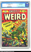 Golden Age (1938-1955):Horror, Ghostly Weird Stories #122 Cosmic Aeroplane pedigree (Star, 1954)CGC VF 8.0 Off-white to white pages. The series started as...
