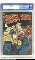 Golden Age (1938-1955):Western, Ghost Rider #1 (Magazine Enterprises, 1950) CGC VF+ 8.5 Cream tooff-white pages. Dick Ayers renders a most stupendous cover...