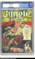 Golden Age (1938-1955):Adventure, Jungle Comics #1 (Fiction House, 1940) CGC FN/VF 7.0 Cream to off-white pages. This incredible Lou Fine cover is so striking...