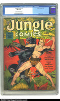 Golden Age (1938-1955):Adventure, Jungle Comics #3 (Fiction House, 1940) CGC FN+ 6.5 Cream to off-white pages. Kaanga stabs a panther, doing his part to contr...