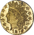 California Fractional Gold, 1878/6 25C Indian Head Octagonal 25 Cents, BG-799G, R.5, MS67 DeepProoflike NGC....