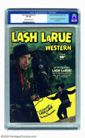 Golden Age (1938-1955):Western, Lash Larue Western #1 (Fawcett, 1949) CGC VF 8.0 Off-white to whitepages. Fawcett scored a coup by gaining the rights to pu...