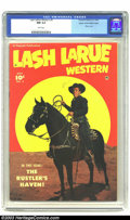 Golden Age (1938-1955):Western, Lash Larue Western #5 Mile High pedigree (Fawcett, 1950) CGC NM 9.4White pages. This innovative photo cover centers Lash La...