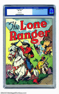 Golden Age (1938-1955):Western, Lone Ranger #1 (Dell, 1948) CGC VF+ 8.5 Off-white pages. The LoneRanger, Silver, Tonto, and Scout begin their long and memo...