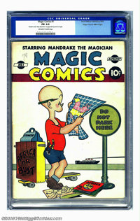 Magic Comics #1 Mile High pedigree (David McKay Publications, 1939) CGC FN 6.0 Off-white to white pages. This ancestral...