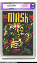 Golden Age (1938-1955):Horror, Mask Comics #1 Mile High pedigree (Rural Home, 1945) CGC ApparentNM 9.4 Slight (A) Off-white to white pages. A classic L. B...