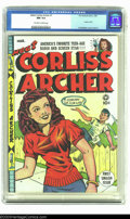 Golden Age (1938-1955):Humor, Meet Corliss Archer #1 (Fox, 1948) CGC NM 9.4 Off-white to white pages. Al Feldstein would find greater fame in a couple of ...