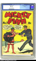 Golden Age (1938-1955):Humor, Mickey Finn #1 Rockford pedigree (Eastern Color, 1942). CGC NM- 9.2 Cream to off-white pages. Spun off from his adventures i...