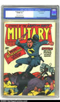 Golden Age (1938-1955):War, Military Comics #20 Pennsylvania pedigree (Quality, 1943) CGC VF/NM9.0 Cream to off-white pages. A great cover, featuring B...