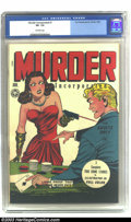 "Golden Age (1938-1955):Crime, Murder Incorporated #1 (Fox Features Syndicate, 1945). CGC VF- Off-white pages. Classic ""headlights"" cover. Overstreet 2002 ..."