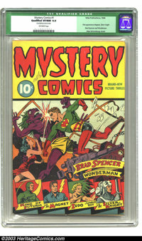 Mystery Comics #1 (Wise Publications, 1944) CGC Qualified VF/NM 9.0 Off-white pages. In the 1940s, one just never knew w...