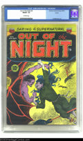 Golden Age (1938-1955):Horror, Out of the Night #4 Aurora pedigree (ACG, 1952) CGC FN/VF 7.0Off-white pages. ACG really created some classic horror books ...