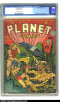 Golden Age (1938-1955):Science Fiction, Planet Comics #5 (Fiction House, 1940) CGC VG+ 4.5 Off-white to white pages. Will Eisner and Lou Fine collaborate on another...