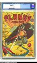 Golden Age (1938-1955):Science Fiction, Planet Comics #7 (Fiction House, 1940) CGC VG/FN 5.0 Cream tooff-white pages. The uncredited cover artists between Will Eis...
