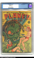 Golden Age (1938-1955):Science Fiction, Planet Comics #11 (Fiction House, 1941) CGC VF/NM 9.0 Cream tooff-white pages. Gerber gives preeminent Fiction House cover ...