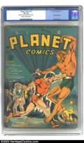 Golden Age (1938-1955):Science Fiction, Planet Comics #12 Nicolas Cage collection (Fiction House, 1941) CGCVF 8.0 Cream to off-white pages. Cover artist John Celar...