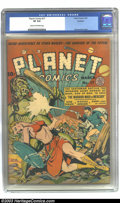 Golden Age (1938-1955):Science Fiction, Planet Comics #17 Rockford pedigree (Fiction House, 1942) CGC VF8.0 Cream to off-white pages. Have we got a plethora of iss...