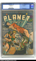 Golden Age (1938-1955):Science Fiction, Planet Comics #18 Rockford pedigree (Fiction House, 1942) CGC VF-7.5 Cream to off-white pages. Fiction House's pulp backgro...
