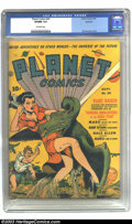 Golden Age (1938-1955):Science Fiction, Planet Comics #20 Rockford pedigree (Fiction House, 1942) CGC VF/NM9.0 Off-white pages. In 1942, Fiction House's science fi...