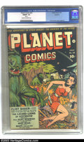 Golden Age (1938-1955):Science Fiction, Planet Comics #25 Rockford pedigree (Fiction House, 1943) CGC FN/VF7.0 Cream to off-white pages. Graham Ingels had begun co...
