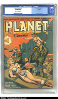 Golden Age (1938-1955):Science Fiction, Planet Comics #26 Rockford pedigree (Fiction House, 1943) CGC VF/NM9.0 Cream to off-white pages. Joe Doolin takes over the ...