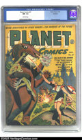 Golden Age (1938-1955):Science Fiction, Planet Comics #27 Rockford pedigree (Fiction House, 1943) CGC NM-9.2 Off-white pages. The title was already nearly four yea...