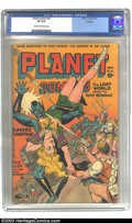 Golden Age (1938-1955):Science Fiction, Planet Comics #32 Rockford pedigree (Fiction House, 1944) CGC VF8.0 Cream to off-white pages. Joe Doolin uses a rainbow of ...