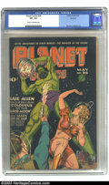 Golden Age (1938-1955):Science Fiction, Planet Comics #36 Rockford pedigree (Fiction House, 1945) CGC VF+8.5 Cream to off-white pages. Gale Allen stars in an actio...