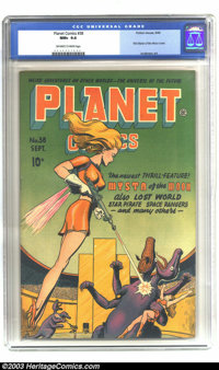 Planet Comics #38 (Fiction House, 1945) CGC NM+ 9.6 Off-white to white pages. Mysta of the Moon makes her debut this iss...
