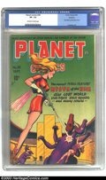 Golden Age (1938-1955):Science Fiction, Planet Comics #38 Rockford pedigree (Fiction House, 1945) CGC VF-7.5 Off-white to white pages. Mysta of the Moon makes her ...