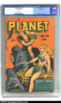 Golden Age (1938-1955):Science Fiction, Planet Comics #40 Rockford pedigree (Fiction House, 1946) CGC VF+ 8.5 Off-white pages. This good-looking copy might just be ...