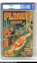 Golden Age (1938-1955):Science Fiction, Planet Comics #41 Rockford pedigree (Fiction House, 1946) CGC VF/NM9.0 Off-white pages. Robots usually get a bad rap, but J...