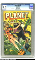 Golden Age (1938-1955):Science Fiction, Planet Comics #42 (Fiction House, 1946) CGC VF/NM 9.0 Off-whitepages. This high grade beauty comes to you from the collecti...
