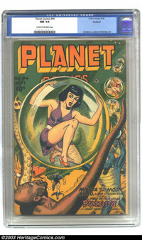 Planet Comics #44 Rockford pedigree (Fiction House, 1946) CGC NM 9.4 Cream to off-white pages. All you Planet Comics lov...