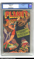 Golden Age (1938-1955):Science Fiction, Planet Comics #45 Rockford pedigree (Fiction House, 1946) CGC VF/NM9.0 Off-white pages. Joe Doolin's cover invariably incor...