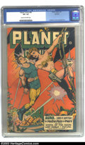 Golden Age (1938-1955):Science Fiction, Planet Comics #46 Rockford pedigree (Fiction House, 1947) CGC VF+8.5 Cream to off-white pages. Joe Doolin's cover is backed...